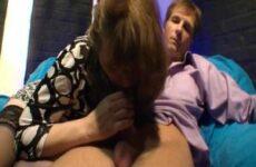Chef bumst seine mollige Putzfrau
